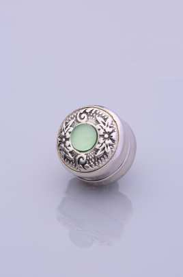 Light Green Silver Plated Scarf Magnet