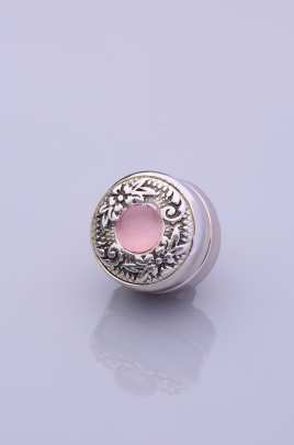Pink StoneSilver Plated Scarf Magnet